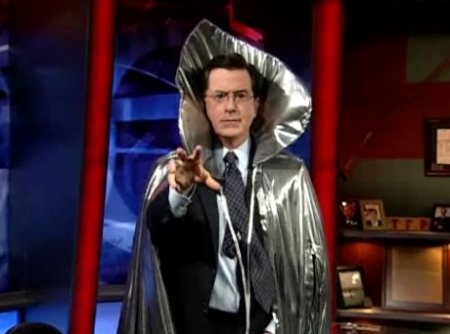 Stephen Colbert, the new leader of Scientology.